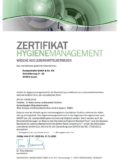 Zertifikat Hygienemanagement